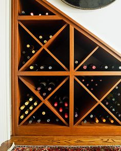 W wine storage - traditional - Wine Cellar - Nashville - Rightwise Shelves Under Stairs, Bar Under Stairs, Under Stairs Wine Cellar, Basement Staircase, Staircase Design, Stair Storage, Wine Storage, Staircase Storage, Interior Stairs