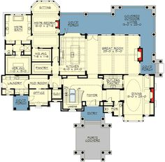 Plan Premium Shingle Style House Plan Need to win lottery to build this one! Dream House Plans, House Floor Plans, My Dream Home, Golf Room, Roof Lines, Cozy Fireplace, House Layouts, Thing 1, Home Design