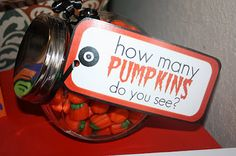 How many in jar? Winner receives jar and candy at end of festival! Can use dollar tree container, one ticket per guess! In event of tie, put winner names into random drawing and choose! Simple yet will draw lots of ticket / tokens! games for preteens Pumpkin Painting Party, Little Pumpkin Party, Pumpkin Patch Party, Pumpkin Carving Party, Spooky Pumpkin, Pumpkin Birthday Parties, Halloween Birthday, Halloween Games, Fall Festival Games