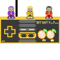 """Curious one by rapsmyinitials #nes #microhobbit (o) http://ift.tt/1QT3oEE""""Year of the Peach Panther""""  TGIF! To download free Retro Video Games with RiFF search the APPLE AMAZON AND GOOGLEPLAY store for RiFF RAFF  #RiFFRAFF #JODYHiGHROLLER #PeachPanther #8bit #trippy #420 #gaming #thc #dope #model #pokemon #peach #dab #trees #pixelart #vape #rap #games #mj #music #retrogaming #kush #versace robe #trippyart  #nintendo #wave #mario #art #sports"""