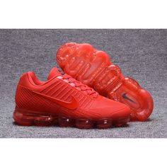 Buy Men Nike Air Max 2018 All Red UK Shoes.on Nike Air Max 2018 Mens UK in the shop.We guarantee that the shoes you buy are authentic, and we also offer you free home delivery. Nike Air Max Herren, Nike Air Max Mens, Nike Air Vapormax, Nike Men, Cute Sneakers, Air Max Sneakers, Sneakers Nike, Red Nike Shoes, Shoes Uk