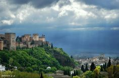 #Granada #Alhambra Granada, Andalucia, River, Sunset, Outdoor, Romantic Travel, Earth, Cities, Viajes
