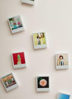 Cute DIY mini polaroid magnets