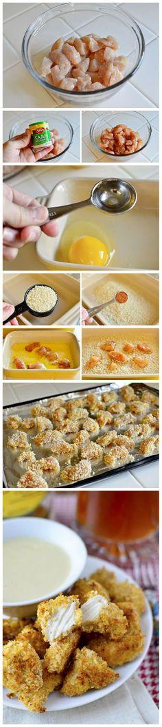 joysama images: Baked Popcorn Chicken
