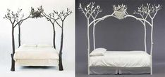 beds made with tree branches