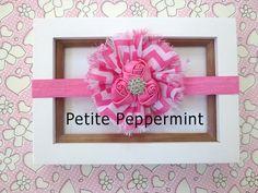 Hot Pink Baby headband headband babyinfant by PetitePeppermint
