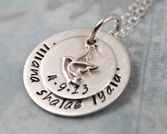 Confirmation Gift, All Sterling Silver with Dove Charm, Personalized Necklace, Personalized Jewelry