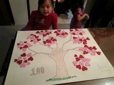 Jenn's 100 days of school poster 100 Day Project Ideas, 100 Day Of School Project, School Projects, Projects For Kids, Crafts For Kids, School Ideas, 100 Days Of School Project Kindergartens, 100days Of School Shirt, 100th Day Of School Crafts