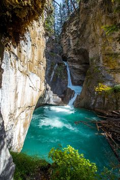 Johnston Canyon in Banff National Park should be on your Canadian Rockies to-do list. The waterfalls, beautiful scenery, and secret cave makes for endless photo opportunities and places to explore. Landscape Photos, Landscape Photography, Scenery Photography, Night Photography, Photography Ideas, Banff National Park, National Parks, Johnston Canyon Banff, Beautiful Places