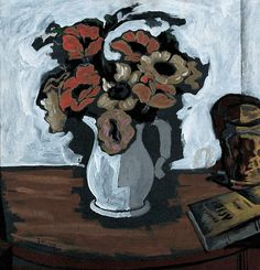 Georges Braque, Pot of Anemones (1925) on ArtStack #georges-braque #art