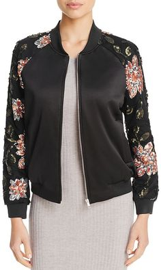 Endless Rose Floral Sequin Bomber Jacket on Shopstyle.