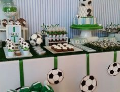 Eventos Romina D's Birthday / Football - Gael Sports Party at Catch My Party Soccer Birthday Parties, Football Birthday, Sports Birthday, Soccer Party, Sports Party, Birthday Party Themes, Boy Birthday, Soccer Ball, Party Decoration