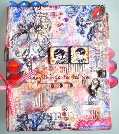 couverture art journal mixed media   by Francoise MELZANI