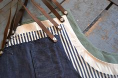 Stanley and Sons Selvage Aprons.