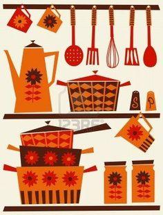 Image result for 70s food illustration