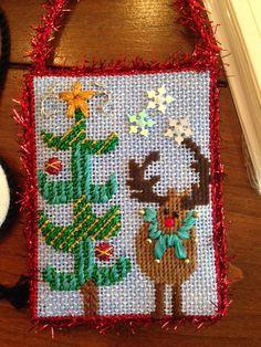 Christmas needlepoint christmas stockings on pinterest for Charles craft christmas stockings
