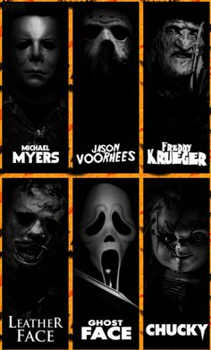 """""""Horror Icons"""" - Creative slasher series, but what did you do last summer, an urban legend, perhaps... ~;^/"""