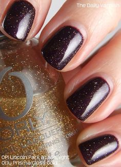 Perfect Pair: OPI Lincoln Park at Midnight & Orly Prisma Gloss Gold