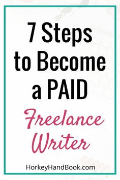 Want to know how to become a freelance writer, but aren't so sure where to start? This post will give you the first 7 steps. via @ghorke