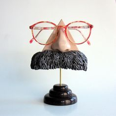 Nietzsche Nose Eyeglass stand by ArtAkimbo on Etsy.  So cool!