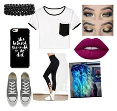 """Untitled #807"" by glamor234 on Polyvore featuring Converse, Bling Jewelry and Lime Crime"