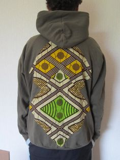 Customisation sweat CéWax http://www.alittlemarket.com/boutique/cewax-173629.html Style ethnique tissus africains, Ankara, african men fashion prints pattern fabrics, wax,, kente, kitenge, kanga, bogolan, pagne, mud cloth, woodin…