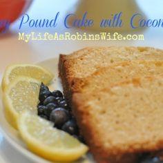 Lemony Pound Cake with Coconut Oil recipe