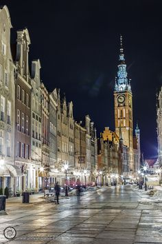 #Gdansk at #night | fot. Maciej Politowicz