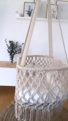 Baby Hammock, Hammock Swing Chair, Baby Swings, Swinging Chair, Crochet Hammock, Room Swing, Swing Chairs, Macrame Wall Hanging Patterns, Macrame Patterns