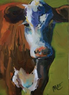 Oil Painting of Cow
