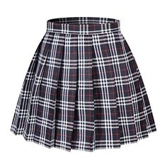 Beautifulfashionlife Women's Japan high Waisted Pleated Cosplay Costumes Skirts Casual Skirts, Cute Skirts, Stylish Outfits, Cute Outfits, Dress Outfits, Fashion Outfits, Fashion Tips, Fashion 2020, Grunge Outfits