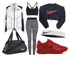 """....."" by queenofromance ❤ liked on Polyvore featuring Topshop and NIKE"