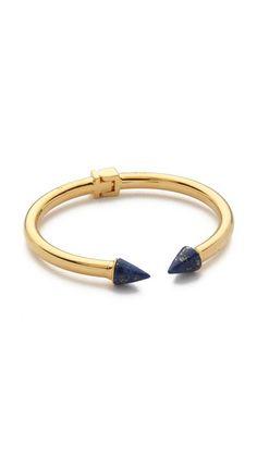 Vita Fede Mini Titan Stone Bracelet - Gold/Lapis
