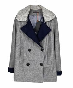 Longline Big Lapel Double-Breasted Woollen Coat