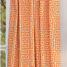 Hyde Park Aztec Orange Curtain Panel from @PoshTots #orange #decor #Aztec #home