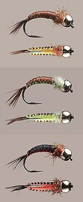 #Woven nymph fly - brown&yellow / black&orange / #brown&green - fly #fishing bai, View more on the LINK: http://www.zeppy.io/product/gb/2/162031049391/