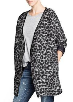 Abrigo lana estampado leopardo, ref. 11095567 - Limas . 69.99 €