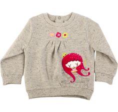 Sweatshirt pelúcia kingdom, para menina - tuc tuc