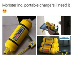 Monsters Inc portable charger Kubo And The Two Strings, Cool Things To Buy, Good Things, Awesome Things, Take My Money, Cool Inventions, Disney And Dreamworks, Disney Love, Walt Disney
