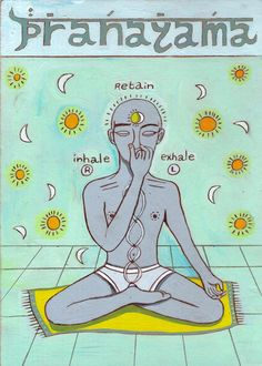 Yoga Canvas Print Original Illustration by IFFIcreations on Etsy