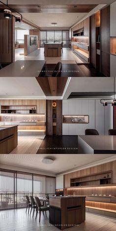 Home Room Design, Dream Home Design, Home Interior Design, Interior Architecture, Living Room Designs, Modern Kitchen Design, Modern House Design, Living Room Interior, Luxury Interior