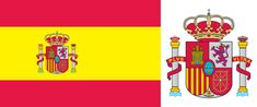 Horizontally striped red-yellow-red national flag with an off-centre coat of arms. Within Spain private citizens may display the flag without the coat of arms. The flag's width-to-length. Spain History, Spanish Flags, European Flags, Spain Flag, Rome, Iberian Peninsula, Picture Search, Jolie Photo, National Flag