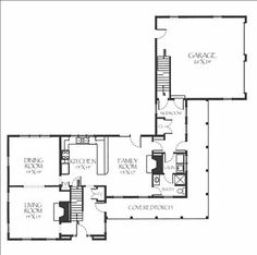 Luella Gregory House 1s floor - 2 fireplaces, nice mudroom, great flow.