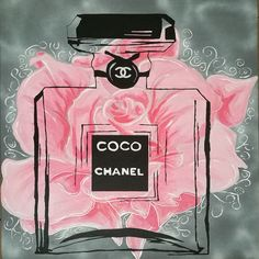 Buy Art For Less 'Pink Rose Floral Coco Chanel' Framed Painting Print Size: 1 Chanel Wall Art, Chanel Decor, Chanel Wallpapers, Cute Wallpapers, Painting Frames, Painting Prints, Mode Poster, Parfum Chanel, Illustration Mode