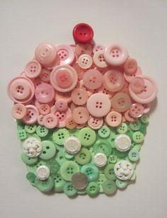 Button cupcake
