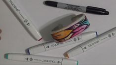 Transfer Your Own Drawing onto a Polymer Clay Bracelet