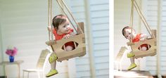 Handmade Wood Toddler Swing by VintageSwings on Etsy, $325.00