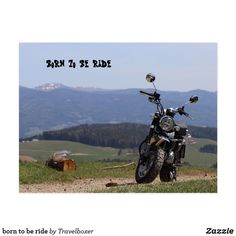 born to be ride postkarte Austria, Poster, Map Invitation, Pictures, Posters