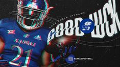 Kansas Football, College Football Recruiting, Sports Graphic Design, Esports, Design Inspiration, Photoshop, Graphics, Poster, Ideas