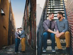 engagement photography of same sex gay couple taken in Ybor City Tampa
